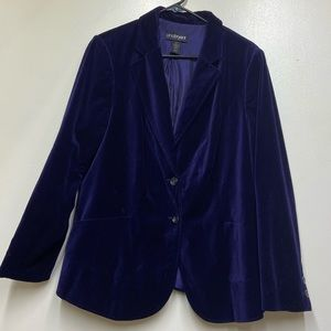 Lane Bryant Purple Velour Blazer Jacket Ladies 16
